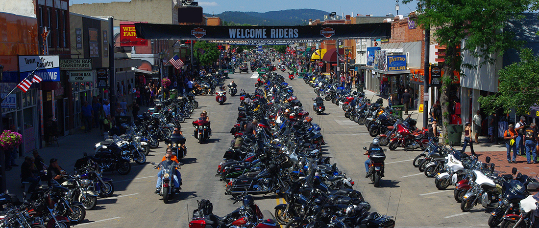 Main Sturgis during the Motorcycle Rally